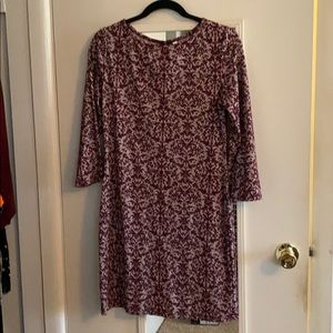 PLUM JACQUARD HOLIDAY DRESS-SUPER COMFORTABLE!!